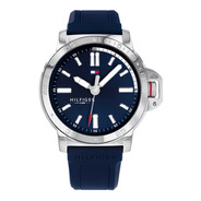 Reloj Tommy Hilfiger Azul De Hombre Malla De Caucho 1791588