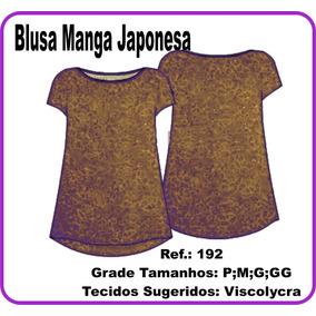 Molde Blusa Manga Japonesa 192
