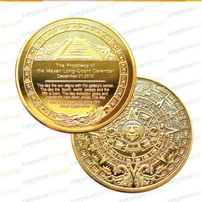 Moneda Calendario Azteca Bañada Oro Colección Envio Gratis