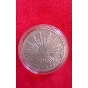 Moneda 8 Reales Ga Plata Antigua Siglo Xix Mil159 Acuñadas