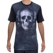 Camiseta Masculina Mcd Especial Caveira Pixel Preta