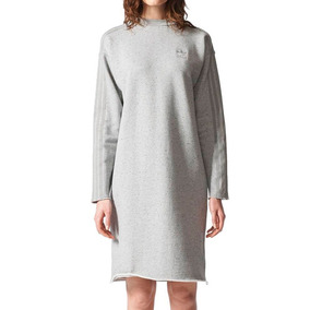 Vestido Playera Originals Trefoil Mujer adidas Br4597