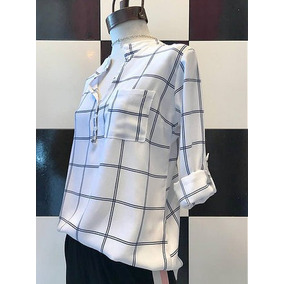 1efea0a6a877 Camisa Cuadros Blanco Y Negro Mujer - Blusas en Mercado Libre Argentina