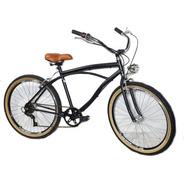 Bicicleta Aro 26 Caiçara Vintage Retrô Com Marcha E Farol