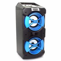 Caixa De Som Portátil Acústica Recarregável Ewtto Mp3 Usb
