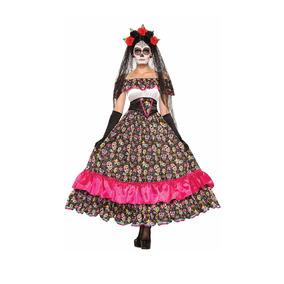 Disfraz Catrina Mujer Halloween Dia De Muertos Calavera