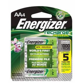Energizer Universal, Aa, Batería Pila Recargable 4 Piezas