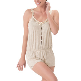 Pijama Tipo Palazzo Love Color Beige Algodon Co270