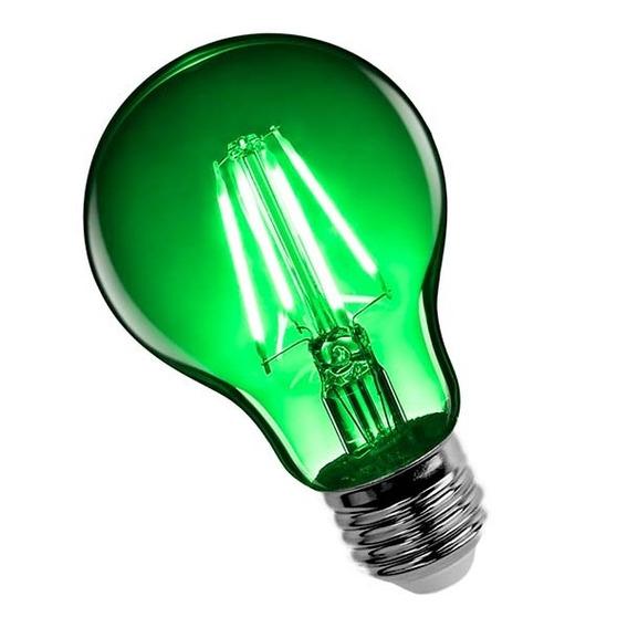 Lampara Led 4w Filamento A60 Interelec Colores