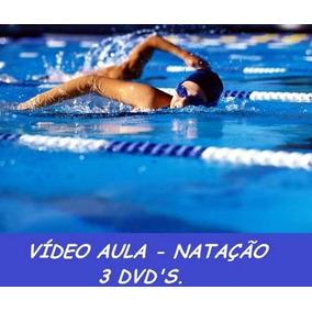 Aulas De Natação + Hidroginástica Curso Em 4 Dvds T8z
