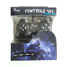 Kit 2 Controles 4x1 Jogos Computador Notebook Playstation