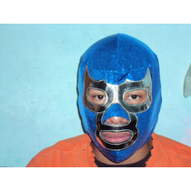 Mascara De Luchador Blue Demon Jr Semiprofesional P/adulto