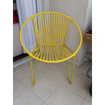 Cadeira De Varanda Redonda Em Fio Espaguete