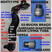 Bucha Braço Agregado Motor Tiida / Livina /versa Diant (par)
