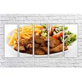 Quadro Decorativo Restaurante Comida Fritas Carne Saladas 01