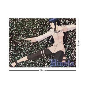 Naruto Cromo Poster Tamaño Carta Hinata Hyuga Ataque