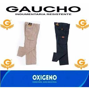 Pantalón Cargo De Trabajo Reforzado Gaucho Azul