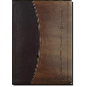 Bíblia De Estudo Anotada Expandida - Capa Marrom Escuro E C