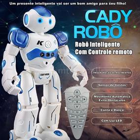 Robô Inteligente Fala Dança Toca Musicas Com Controle Remoto