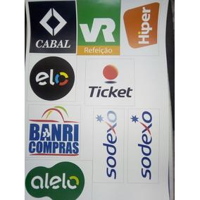 10 Adesivos Das Bandeiras Dos Cartões De Crédito E Débito