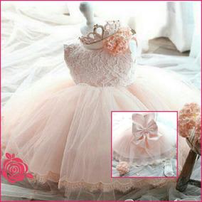 Vestido Para Bebê Festa Aniversário Daminha Varias Cores
