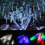 tubos luces led exterior decoracion navidad lluvia meteoro