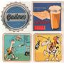 4 Posavasos Cerveza Quilmes Y Schlau Antiguos