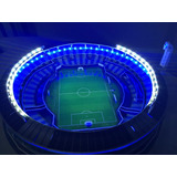 Maqueta 3d Racing Club Con Luces Led Azul Y Blanca + Envio