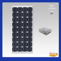 Kit De Energia Solar De 170w 24v P/ Torre Repet De Internet