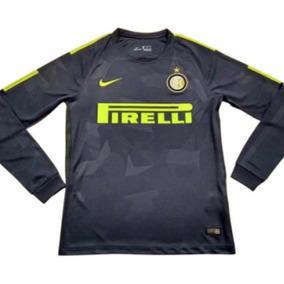 segunda equipacion Inter Milan manga larga