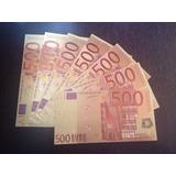 Cédula 500 Euros Folheada Ouro 24k Coleção Notas Moeda Euro