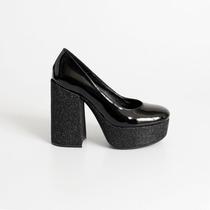 Zapato Con Plataforma De Charol. Art Urano S/t. Otro Calzado