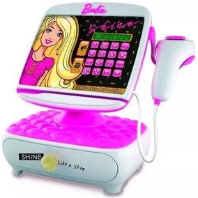 Caja Registradora Barbie Calculadora Visor Digital Educando