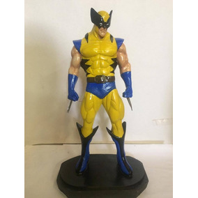 Wolverine Em Resina Pintado A Mao