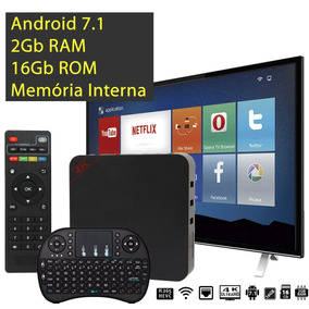 Kit Smart Tv Box + Mini Teclado 2gb Ram 16gb Rom Android 7.1