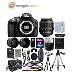 Nikon D3300 Cámara + 3 Lentes: 18-55+ Mas Kit Profesional