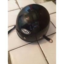 Medio Casco Para Moto Thh Helmets Negro