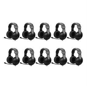 Kit 10 Fones De Ouvido Headset Preto Hsl-102 Fortrek