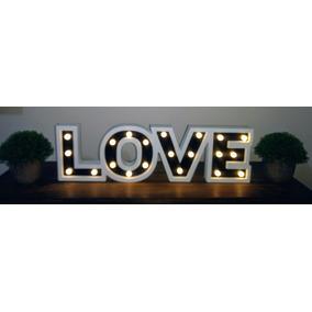 Cartel Luminoso Love Con Luces Led 53 Cm Decoracion Eventos