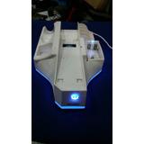 Base De Soporte Wii Con Fancool Y Cargador Con Cable Usb