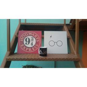 Kit 2 Quadros + Caneca Always Harry Potter Frete Grátis