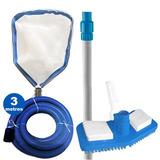 Intex Kit De Limpeza Manutenção Piscina Aspirador Peneira
