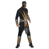 Mortal Kombat Scorpion Adult Costume Y Cara, Oro / Negro,
