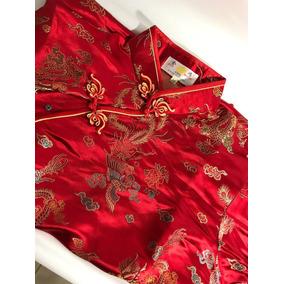 Encantador Kimono Japonés De Seda Estampado Floral
