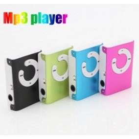 Mini Mp3 Com Clipe Micro Sd Até 8gb + Adaptador Usb