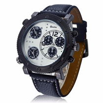 Reloj Oulm Ruso Militar Triple Reloj Agua 60 M Estuche Caja