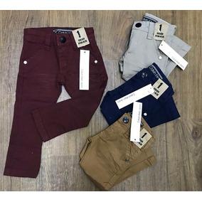 Calça Jeans Infantil Colorida Aniversario Menino