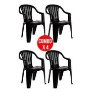 Combo X4 Sillon Garden Life Titan Apilable Ahora 12 Y 18