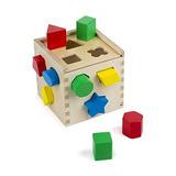 Melissa & Doug Shape Sorting Cube - Juguete De Madera Clási