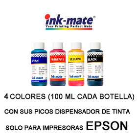 Combo Tinta Epson 4 Colores Ink Mate L200 T22 T21 - (100 Ml)